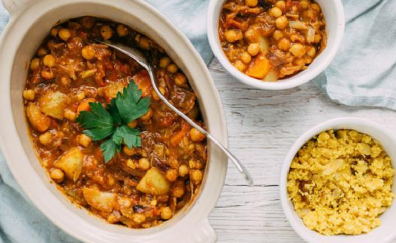 Baobab Powder Roasted Vegetable & Chickpea Tagine